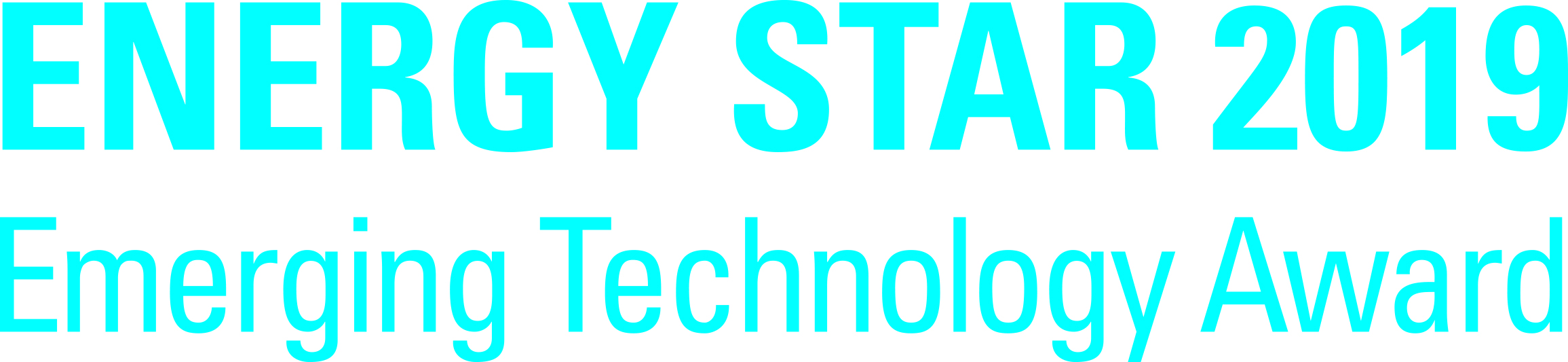 Energy Star 2019 Emerging Technology Ward on white background