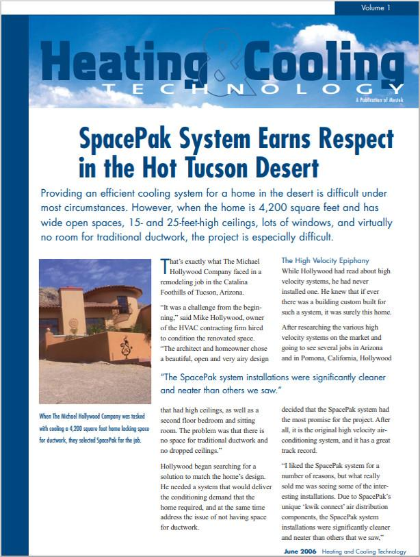 Case Study: Spacepak system being used in a Tucson Desert Home