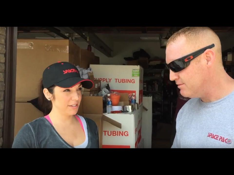 Anitra Mecadon works with SpacePak to install central AC in her parents home